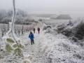 Ausflug in die Sulzfelder Weinberge im Winter