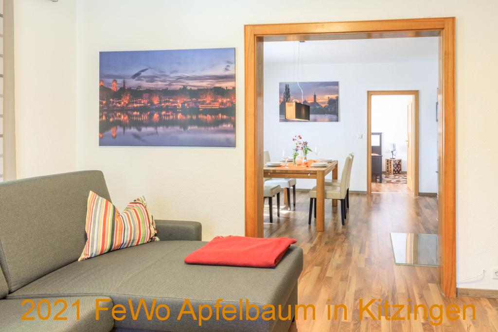 Wohnzimmer Ferienwohnung in Kitzingen